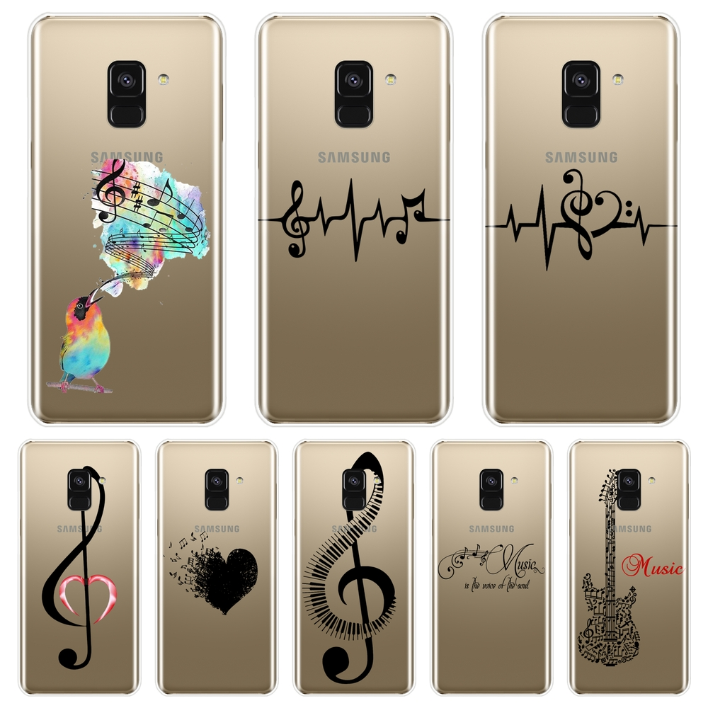 <font><b>Case</b></font> For <font><b>Samsung</b></font> <font><b>Galaxy</b></font> A5 A7 2018 <font><b>A6</b></font> A8 Plus Music Note Bird Silicone Soft Back Cover For <font><b>Samsung</b></font> A3 A5 A7 2016 2017 <font><b>Phone</b></font> <font><b>Case</b></font> image