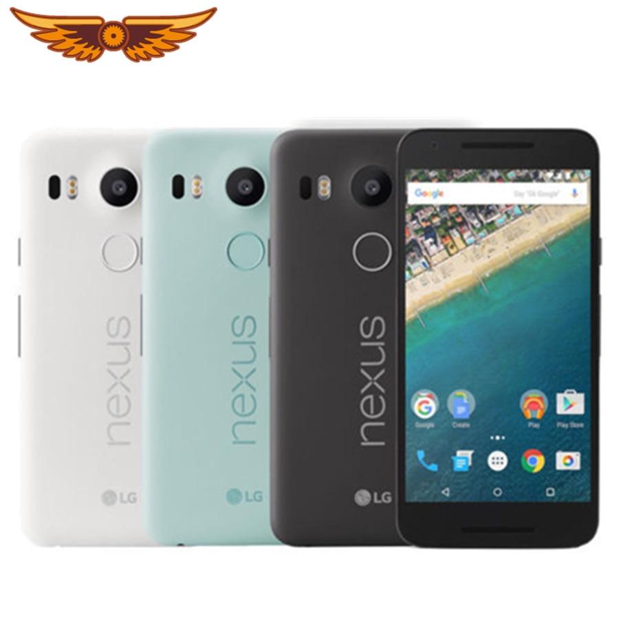 Oryginalny odblokowany LG Nexus 5X H791 rdzeń Hexa 5.2 cala 2GB pamięci RAM, 16/32GB ROM LTE 4G 13.0 MP aparat 1080P z androidem 6.0 Smartphone