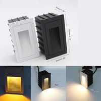 Outdoor Wall Stair Lighting Waterproof Recessed Mounted Led Step Wall Light 2w Ac85 265v Outdoor Lighting Wall Lamps Inox