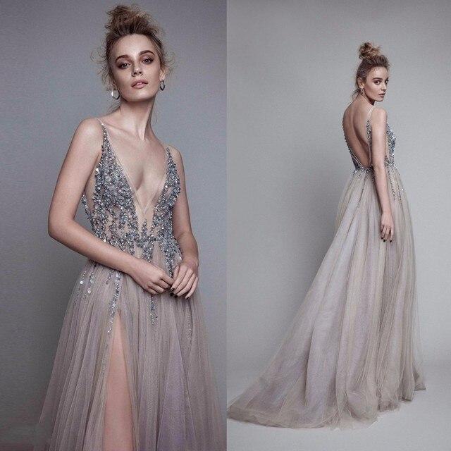 Fashion Wanita Gaun Pesta Panjang Elegan Formal Gaun Manik Vestido