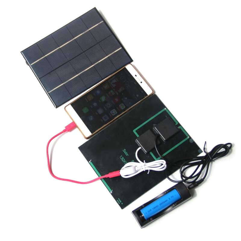 Portable 3.5W 5V Multifunction Polysilicon Solar Cell Board Solar Cell Phone Charger Charging Board or Smartphone