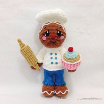 crochet toy amigurumi doll gingerbread  rattle   model number SCA0019