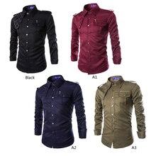 Mode mens stilvolles casual dress slim fit casual langarm neue langarm-shirt männer marke clothing wa123 t50