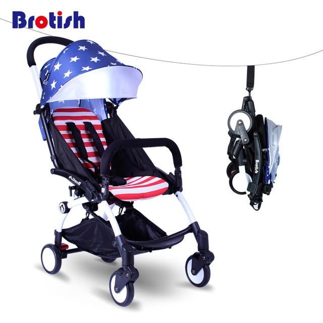 Toth Baillieu newbron bebê luz carrinho de criança dobrável carrinho de bebê guarda-chuva carro super portátil infantil das crianças pequenas pode ser deitado