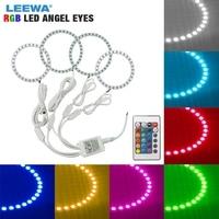 LEEWA 2X90mm 2X110mm Car RGB LED Angel Eyes Halo Ring Light Wireless Remote Control for Hyundai Elantra(04 06) Headlight #CA3209