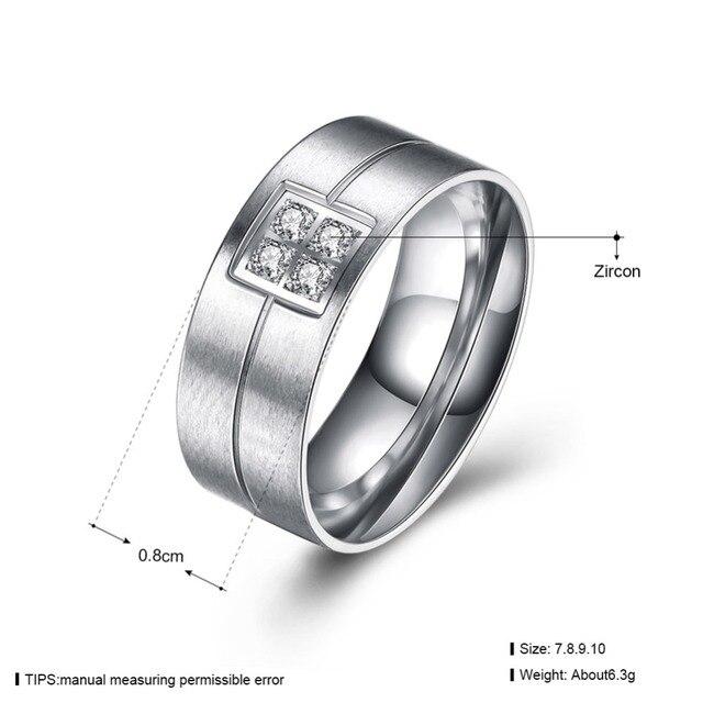 Black Gun Gold Color Men Wedding Rings Wholesale AAA CZ Stone Rings for Men Stainless Steel Finger Rings For Men