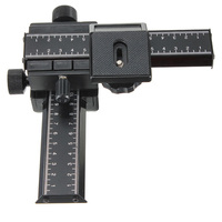 Hot Sale Metal Black 4 Way Macro Shot For Focusing Rail Slider 1 4 Screw F