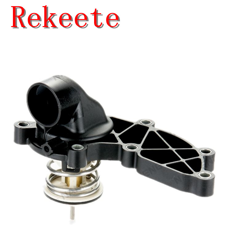 1pcs Auto cooling system thermostat for Audi A4 A6 A8 S4 S6 3.0 TFSI Turbo Petrol Engine Thermostat Housing 06E121111AD