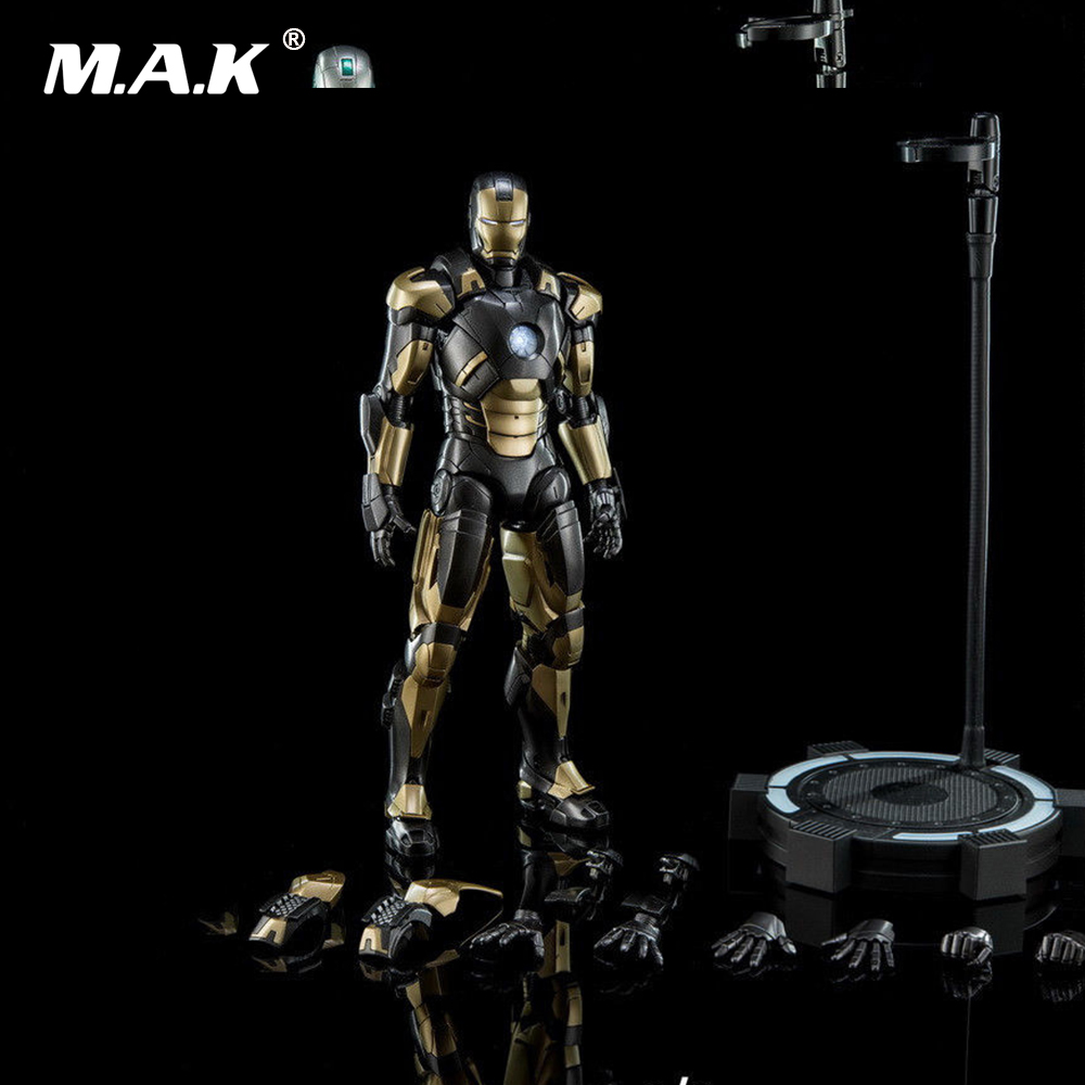 For Collection 1/9 Diecast Figure Series DFS043 Iron Man MK20 Mark XX Python Action Figure Model with Base Toys for Gift