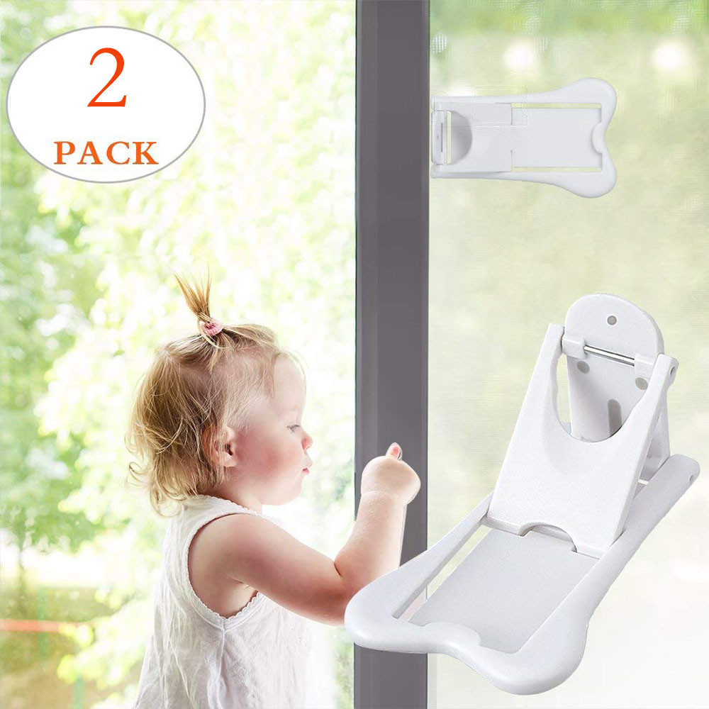 2018 High Quality For Home 2pcs Sliding Door Lock For Child Safety