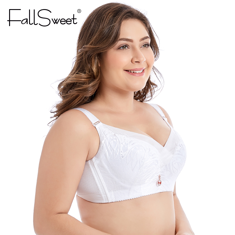 83ef80a379 FallSweet Full Coverage Comfortable Bra for Women Full Cup Non Padded  Minimizer Bra White Black -in Bras from Underwear   Sleepwears on  Aliexpress.com ...