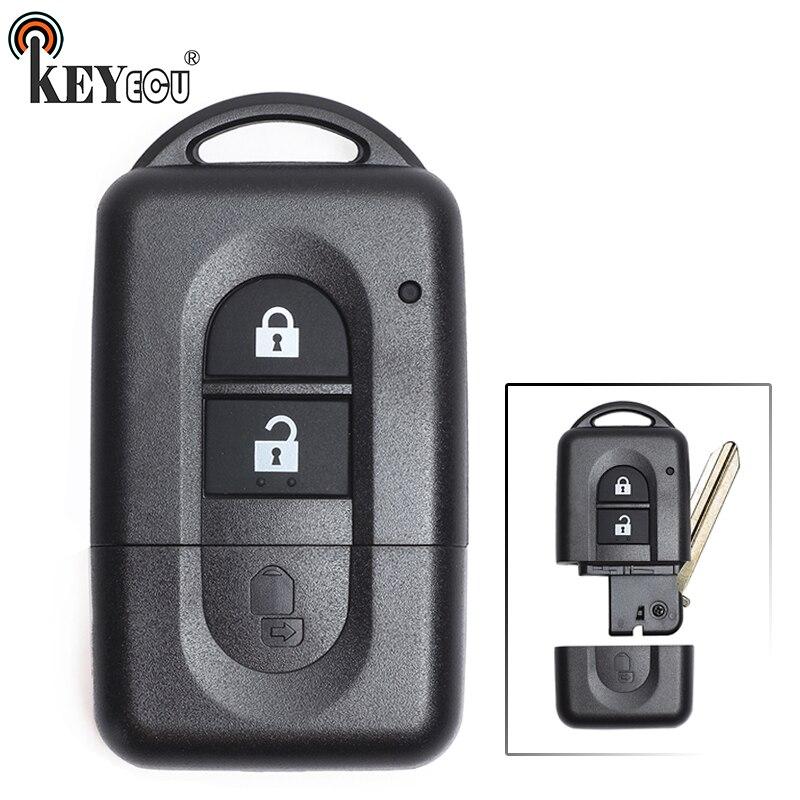 KEYECU pour Nissan Micra Xtrail Qashqai Note Tiida Pathfinder remplacement Flip 2 bouton télécommande clé de voiture coque Fob