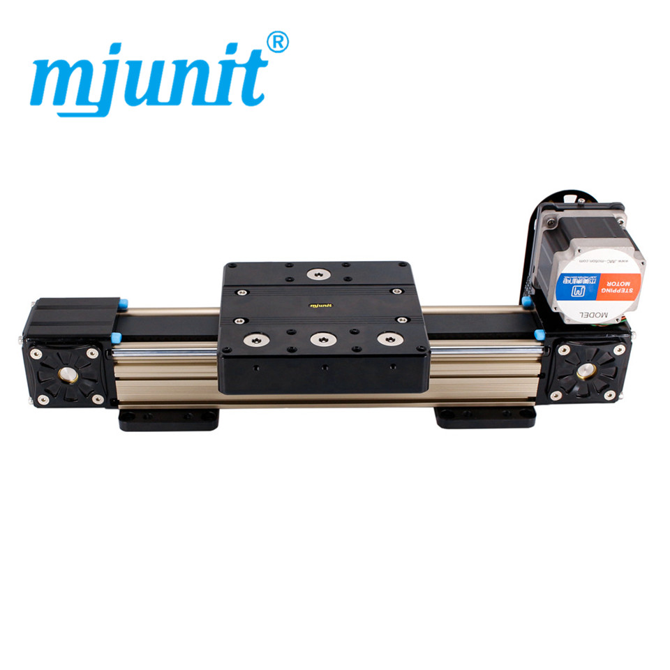 mjunit MJ80 with 1500mm stroke length Timing Pulley Reducer belt drive linear actuator Linear Guide Rail