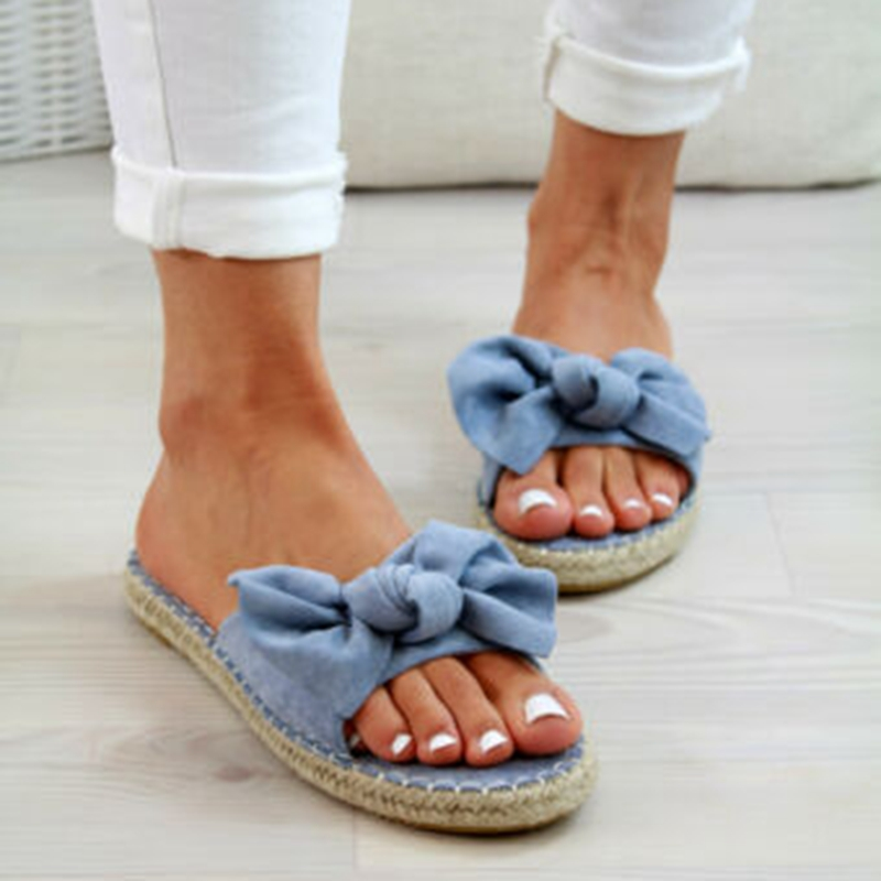Bow Slippers Women Sandals Casual-Shoes Beach-Flops Torridity Female Woman Ladies Cute