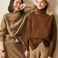 GABERLY Cashmere Soft Turtleneck Sweaters and Pullovers for Women Loose Warm Autumn Winter Ladies Jumper Female Brand Jumper