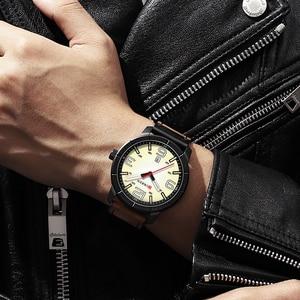 Image 5 - Мужские часы 2019 CURREN Мужские кварцевые наручные часы мужские часы лучший бренд роскошные кожаные Наручные часы с календарем