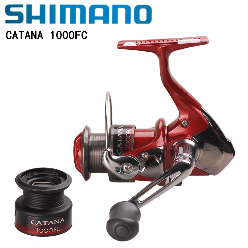 купить Shimano CATANA 1000FC Spinning Fishing Reel Alumminum Handle AR-C Spool 5.2:1 215g With ABS Spare Spool Super Brake Saltwater недорого