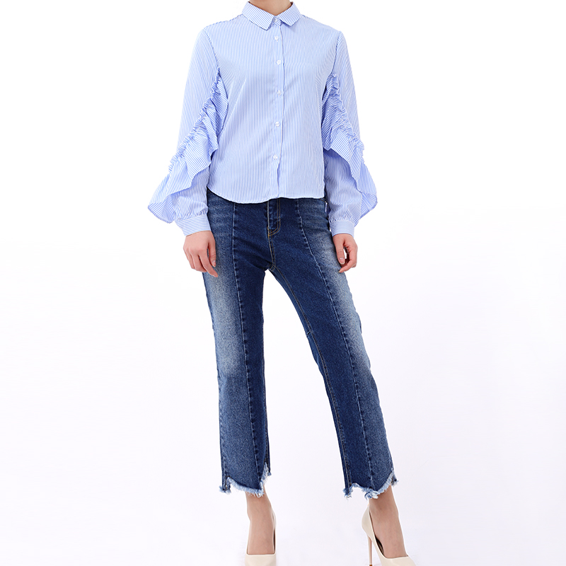 Trouser Summer Casual Zipper Qq127 Stretch Spring Pants Womens Pocket Elastic Fashion New Straight Miaoqing2018 Regular Jeans U4B66z