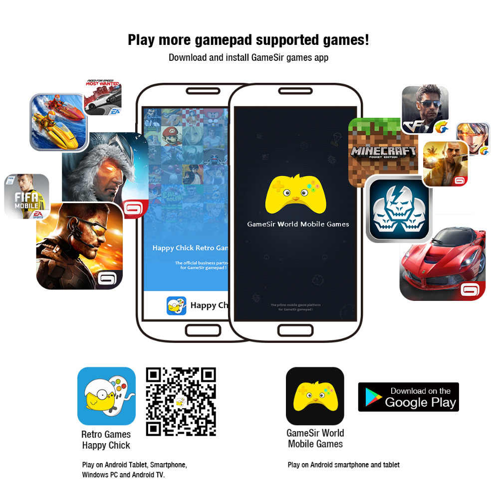 GameSir G3s Bluetooth Беспроводной джойстик для ПК с Windows телефона с Android PS3 samsung Шестерни Очки виртуальной реальности VR (без держатель телефона)