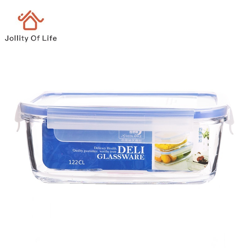 tempered glass lunch box microwave oven lunch boxes glass bowl storage box with lid bento lunch box