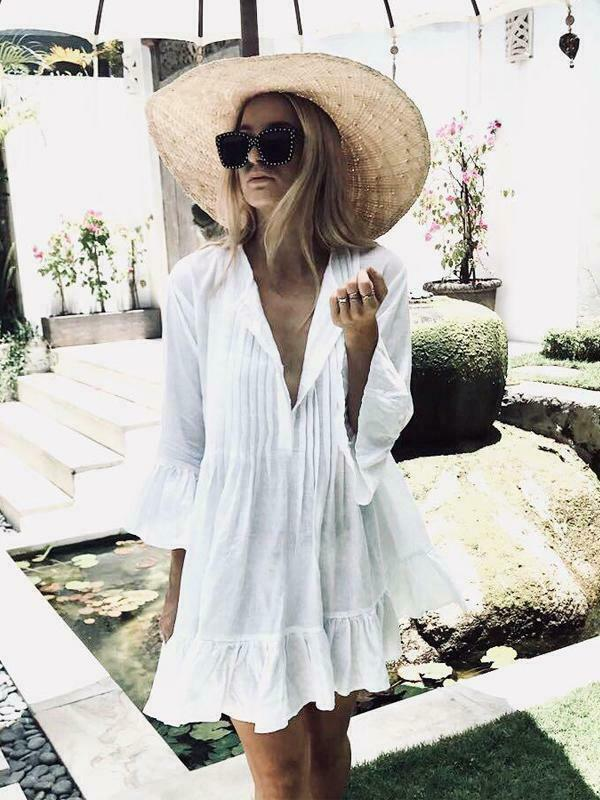 2019 New Style Swimwear Women Bathing Suit Bikini Cover Up Swimwear Summer Casual Beach Dress Sexy Women Swimming Outfit