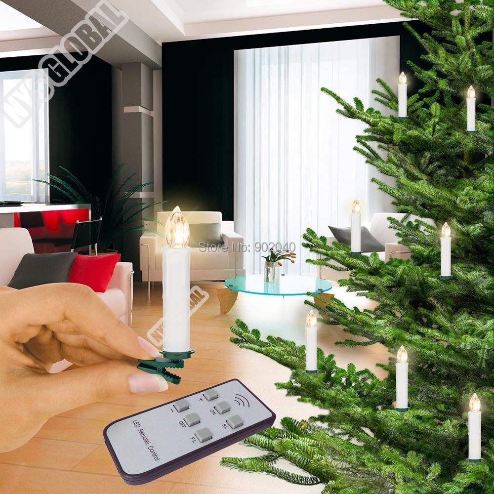 free expedited dhl 40 pcs remote control christmas tree led candlexmass decorationswedding - Remote Control Christmas Tree