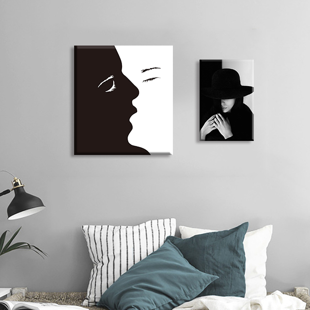 Nordic Kiss Abstract Decoration Posters And Prints Black White Wall Art Canvas Painting Pictures For Living Room
