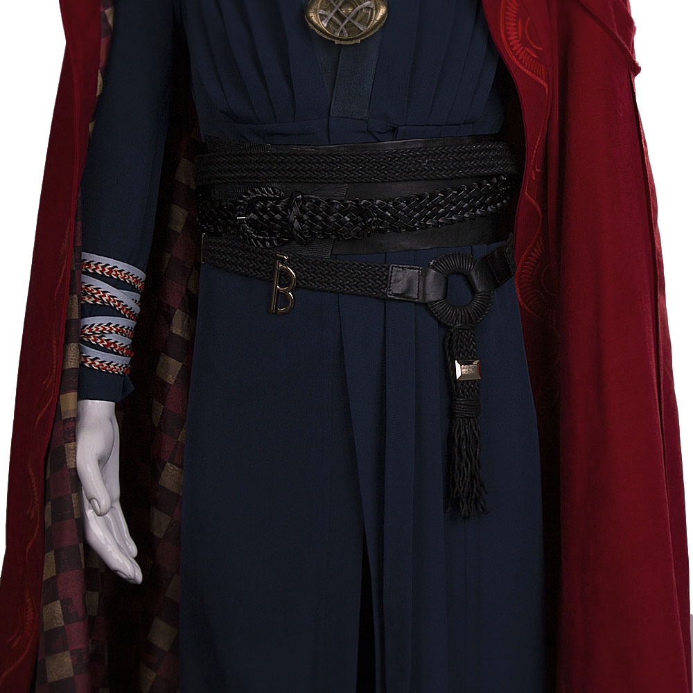 All Include Cosplay Doctor Strange Steve Full Set Costume & Ring Eye of Agamotto Necklace Free Halloween Party (11)