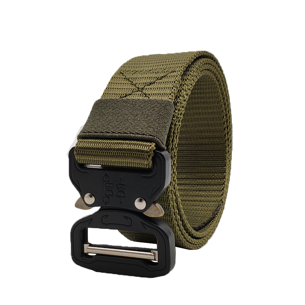 2018 HOT High Quality Tactical   Belts   Nylon Military Waist   Belt   with Metal Buckle Adjustable Heavy Duty Training Waist Big Size