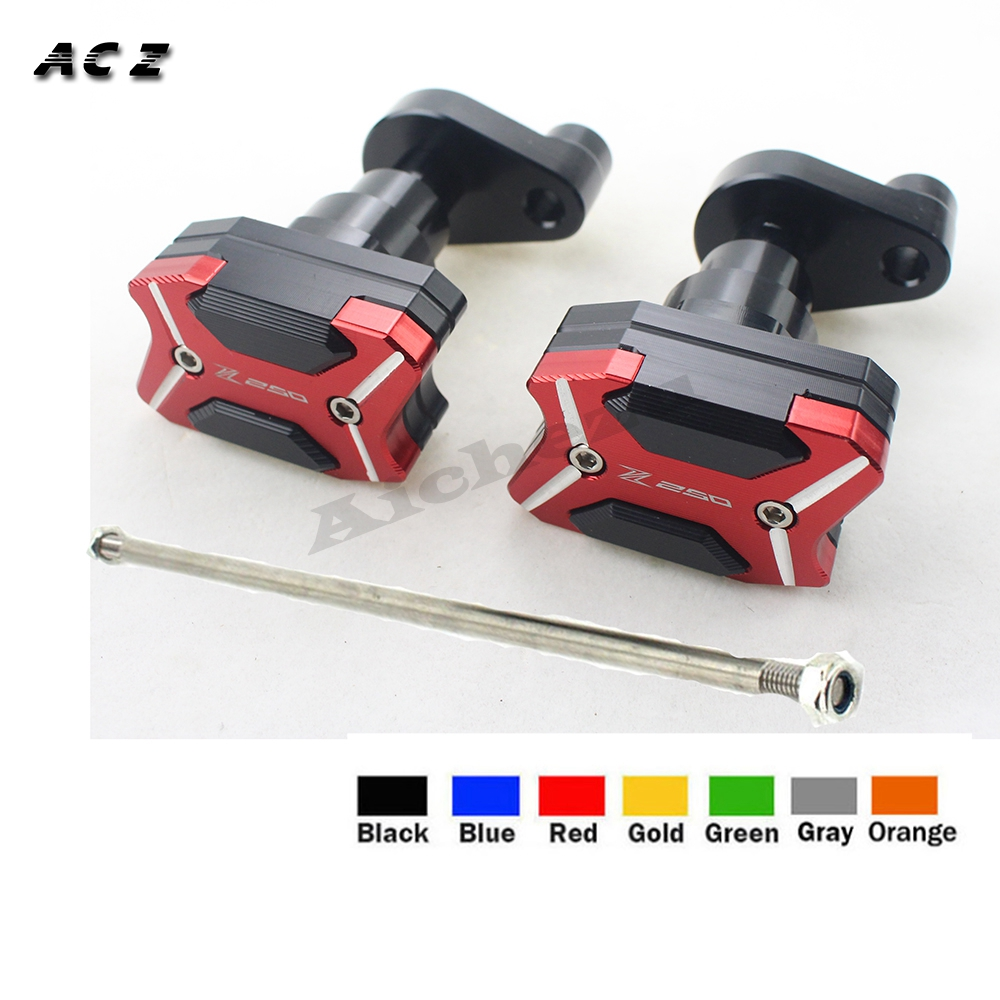 ACZ Motorcycle CNC Left Right Frame Slider Anti Crash Protector Pad Falling Protection For KAWASAKI Z250