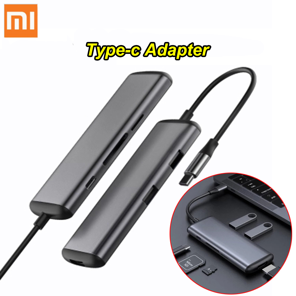 100 Xiaomi mijia Hagibis 6 in 1 Type c to HDMI USB 3 0 TF SD