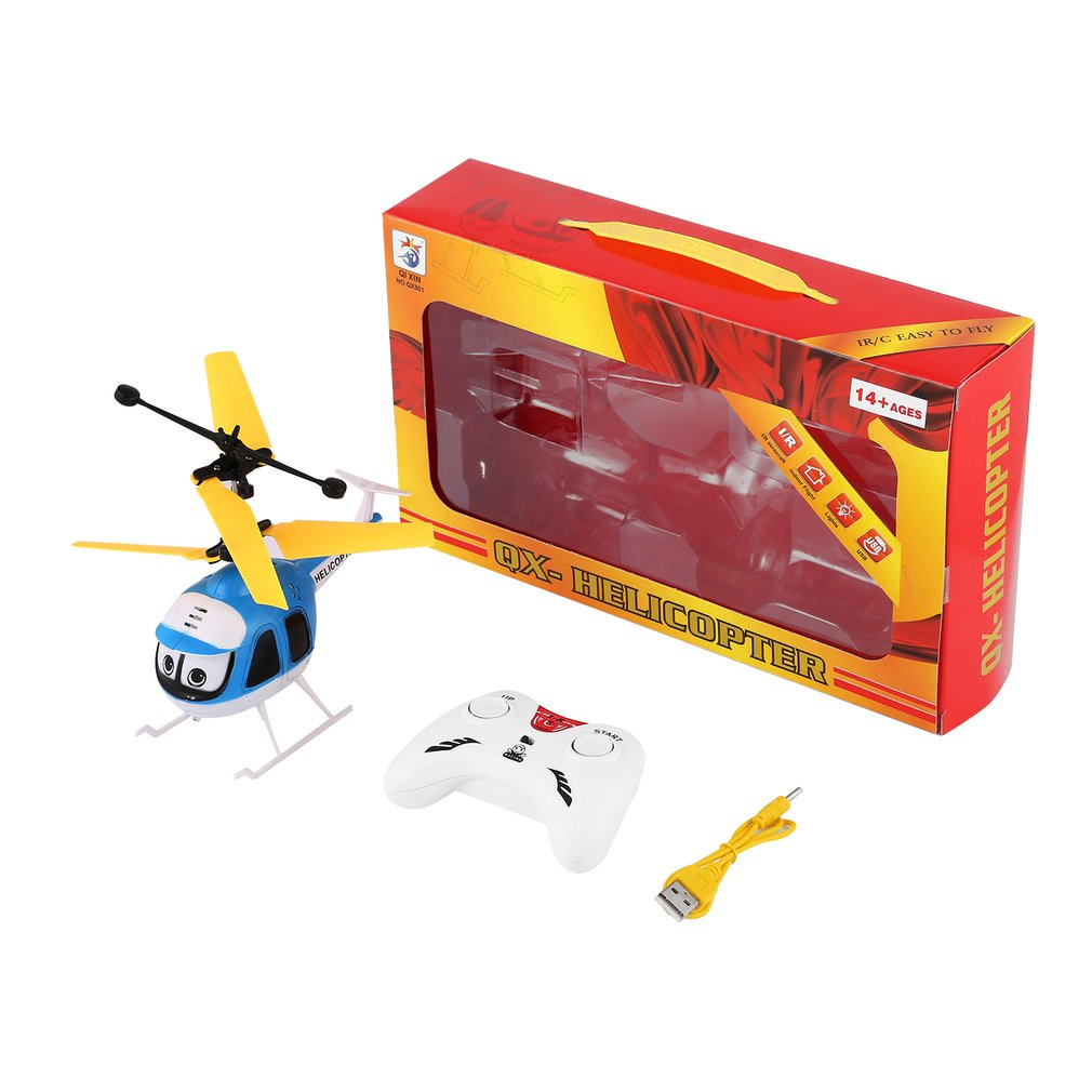 Induction Flying Cartoon RC Helicopter Toys Mini Remote Control Drone Aircraft for Kid Plane Floating Toys Boy Upgrade Version