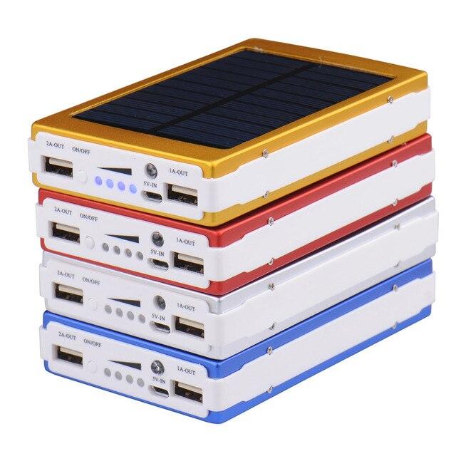 Универсальный 12000 мАч Солнечной Банк силы для Телефона Аккумулятор Солнечное Зарядное Устройство Power Bank Внешний Солнечная Батарея Для iPhone Samsung Телефон