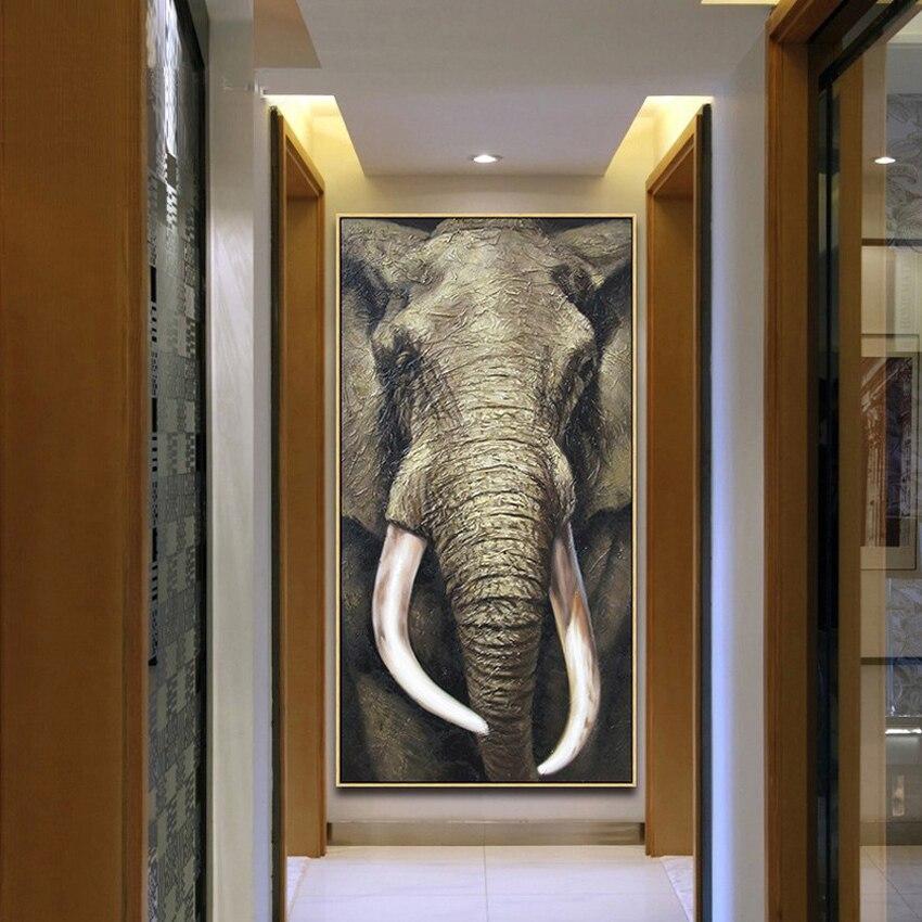 Горячие продажи слон масляной живописи высокое качество современная мода HD печати животных живопись маслом на холсте главная стены украше...