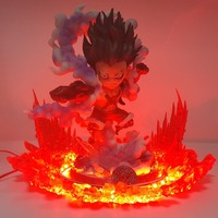 One Piece Lampara Luffy Gear 4 SNAKEMAN Led Night Lights One Piece Anime Lamp Remote Control Color Changing For Bedroom