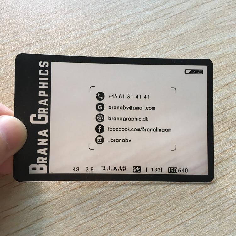 200pcs/one design custom card Factory Transparent PVC Business card ...
