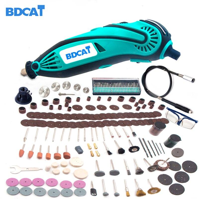 BDCAT 2018 Neue Stil Elektrische Dremel Mini Grinder Drill Polieren Variable Geschwindigkeits-drehwerkzeug mit 207 stücke elektrowerkzeugen zubehör
