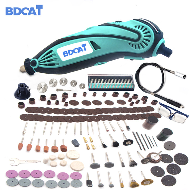 BDCAT 2018 New Style Electric Dremel Mini Grinder Drill Polishing Variable Speed Rotary Tool with 207pcs power tools accessories