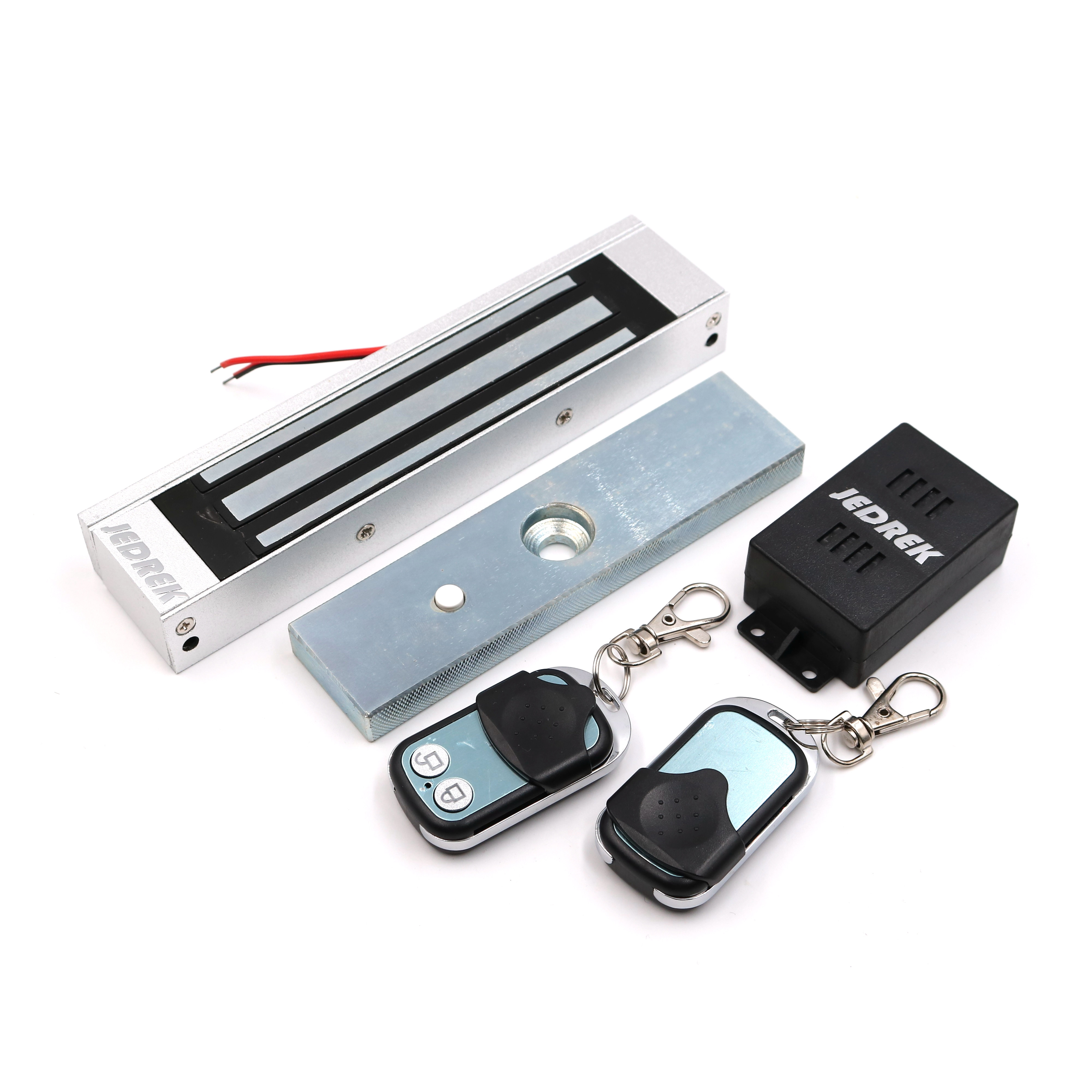 Wireless 315Mhz Remote Control Magnetic lock Kit with Remote Handle Exit Button Power Supply 180Kg 350Lbs 315mhz fail secure remote control electric strikes remote electric lock 2 remote handle