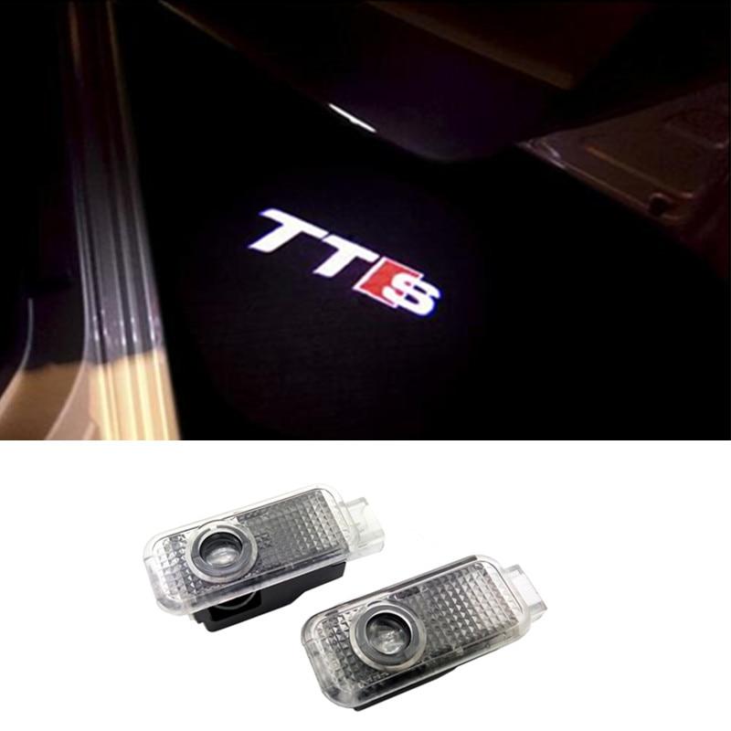 LED Car Door Logo Light Courtesy Laser Projector Lamp For Audi TTS A3 A6 A1 A4 A5 A7 A8 80 TT Q3 Q5 Q7 C5 C6 B5 B6 B7 S LINE