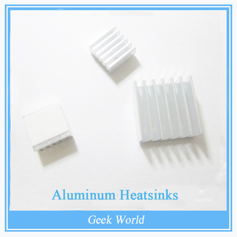 10pcs Aluminum Heat Sinks For Raspberry Pi 512M Model B Computer for arduino mega 2560 for arduino Ethernet Shield w5100(China)