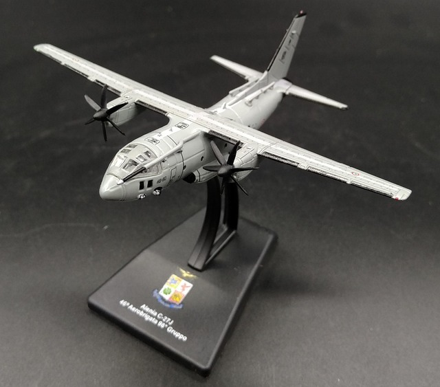 rare Value LEO 1: 250 Italian Air Force C-27J tactical transport aircraft Alloy aircraft model Collection model Holiday gifts