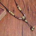 Ceramics Necklace Quite Popular Long Pendant Ethnic Necklaces  For Women 5Color Vintage Style Accessories