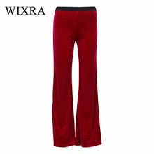 WIXRA Basic Pants 2018 New Velvet Wide Leg Pants Women High Waist Tunic Big Size Loose Trousers Female Spring Autumn Clothing(China)