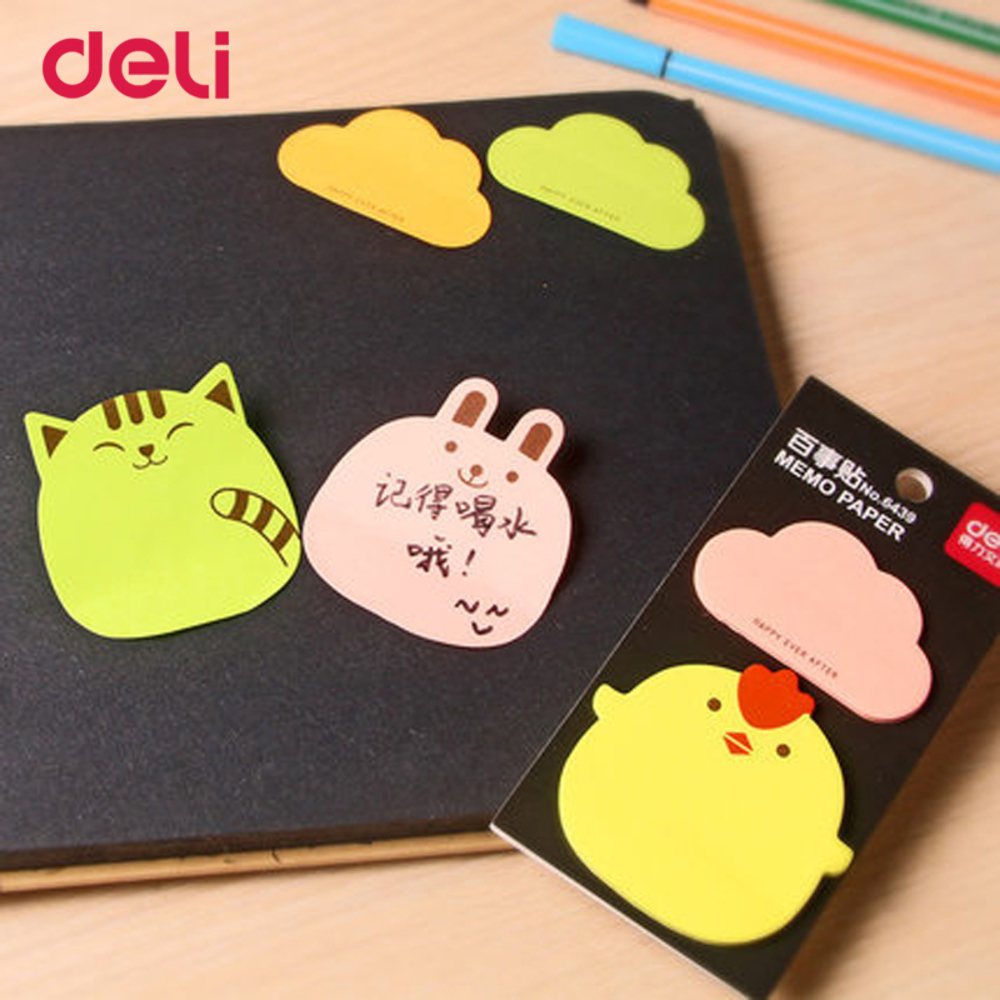 wholesale kawaii pattern memo sticky note pads for school supply office stationery post it pretty planners WJ-SMTP225