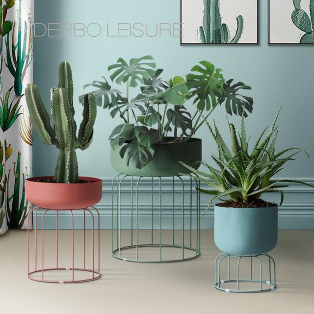 Classic Modern design Loft Metal floor Stand Side Flower Plants Shelf Rack storage, luxury fashion popular decoration racks 1PC 1
