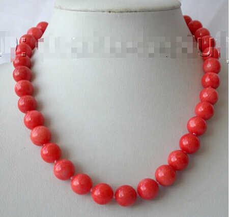 """LL <<< 0156 bán buôn Tuyệt Vời WOW lớn 10-11 MÉT VÒNG natural hồng CORAL HẠT necklace 17-18 """"W Đồ Trang Sức Tinh Thể Phụ Nữ"""