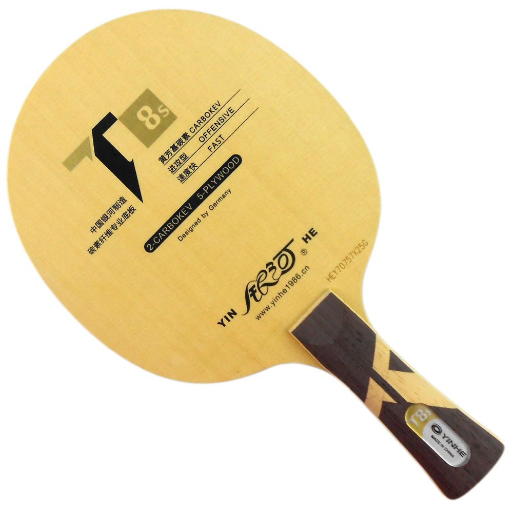 Original Galaxy Yinhe T8s(CARBOKEV, T-8 Upgrade)Table Tennis / PingPong Racket galaxy yinhe emery paper racket ep 150 sandpaper table tennis paddle long shakehand st