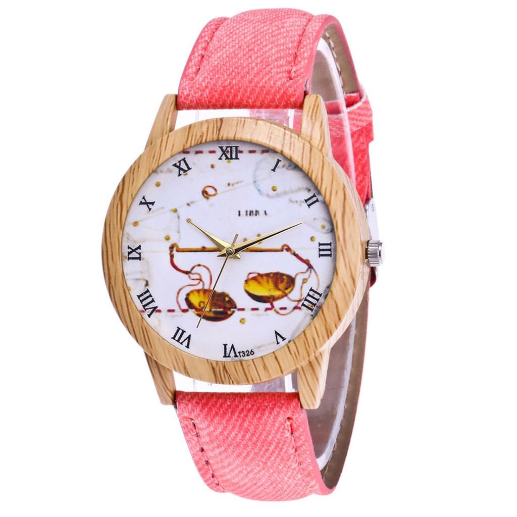 Women's Fashion Casual  Leather Strap Analog Quartz Round Watch fashion women watches ladies wristwatch designer Leather glass