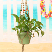 Decorative Plant Hanger with Colorful Beads